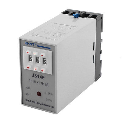 AC 380V 1s-999s Three Adjustment Power On Delay Timer Digital Display Time Relay JS14P 5 pieces h3y 2 power on time delay relay solid state timer max 30m 220vac dpdt