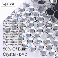 Upriver Half Large Packing Strass Stones Flatback SS6 SS8 SS10 SS12 SS16 SS20 SS30 SS34 SS40 Crystal DMC Hotfix Rhinestones