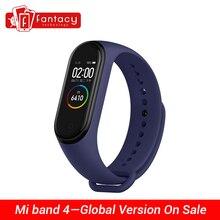 In Lager Xiao mi mi Band 4 Smart mi band 4 Wasserdicht Herz Rate Fitness 135mAh Bluetooth 5,0 50M Farbe Bildschirm