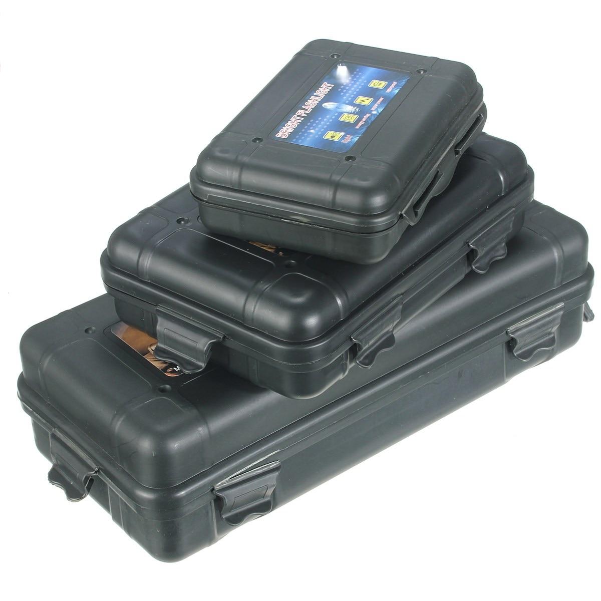3 Size Black Plastic Flashight Tool Storage Case Box For 18650 14500 LED Flashlight For Outdooors Camping Hiking
