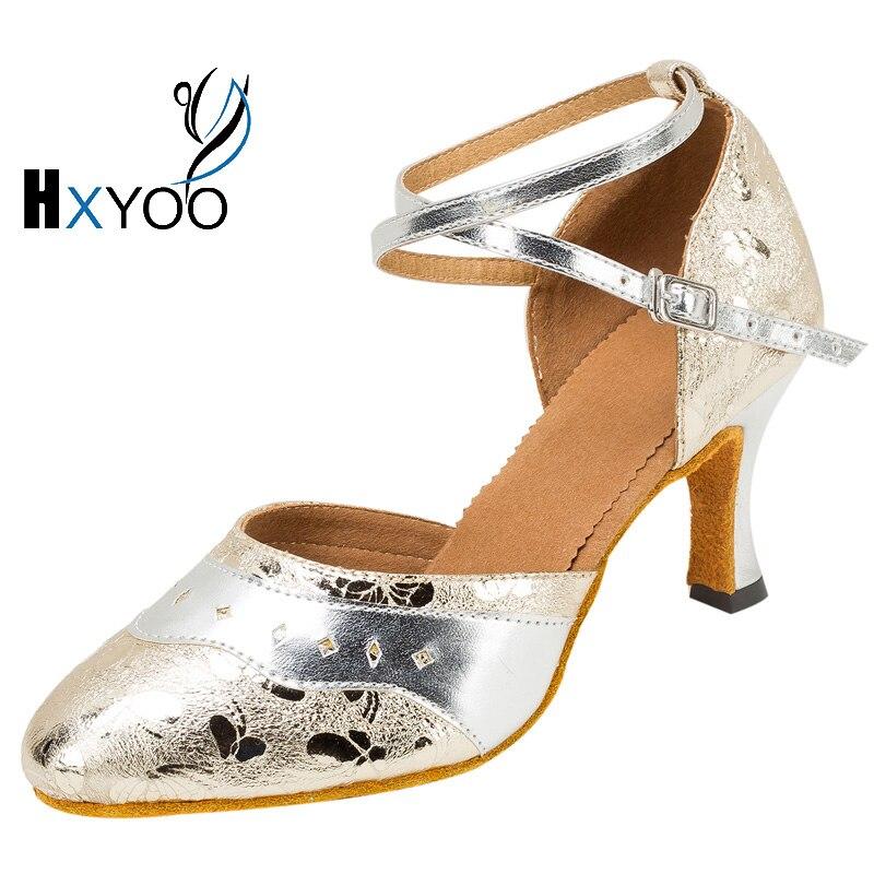 HXYOO New Arrival Women Latin Salsa Shoes Lady Ballroom font b Tango b font font b