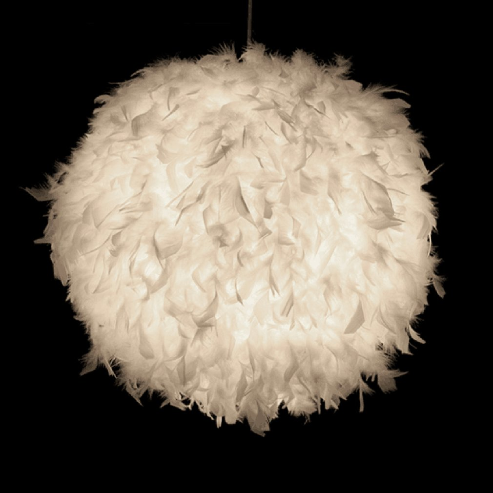 Pendant lights Feather Droplight Modern Romantic Dreamlike Bedroom Hanging Lamp Lamparas For Dinning Marriage Living Room modern romantic luxury white pink color feather pendant light lamp marriage room clothing store bedroom dining room pendant lamp