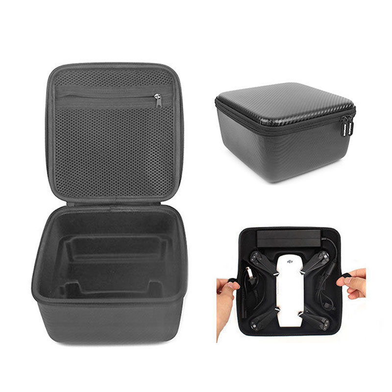 DJI Spark Remote Hard Shell Bag Double Deck Case Handheld Battery Storage Box PU Waterproof for DJI Spark Drone Accessories