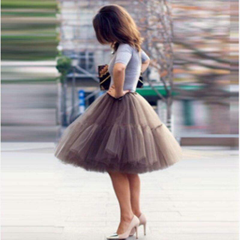 5 Layers Tulle Tutu Skirt Short Wedding Petticoat Vintage Swing Bridal Crinoline Underskirt Hot Sale Wedding Skirt