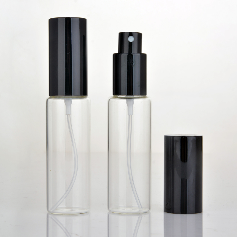 30ML  Portable Glass Refillable Perfume Bottle With Aluminum Atomizer Empty Parfum Cosmetic Case For Traveler