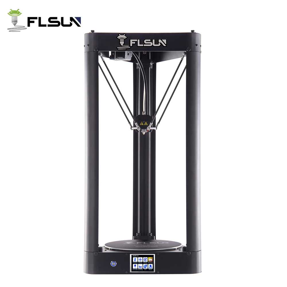 Flsun-QQ 3d Printer Metal Frame Large Size Pre-assembly Auto-level flsun 3d Printer Hot Bed Touch Screen Wifi SD Card Filament zonestar newest full metal aluminum frame big size 300mm x 300mm auto level laser engraving run out decect 3d printer diy kit