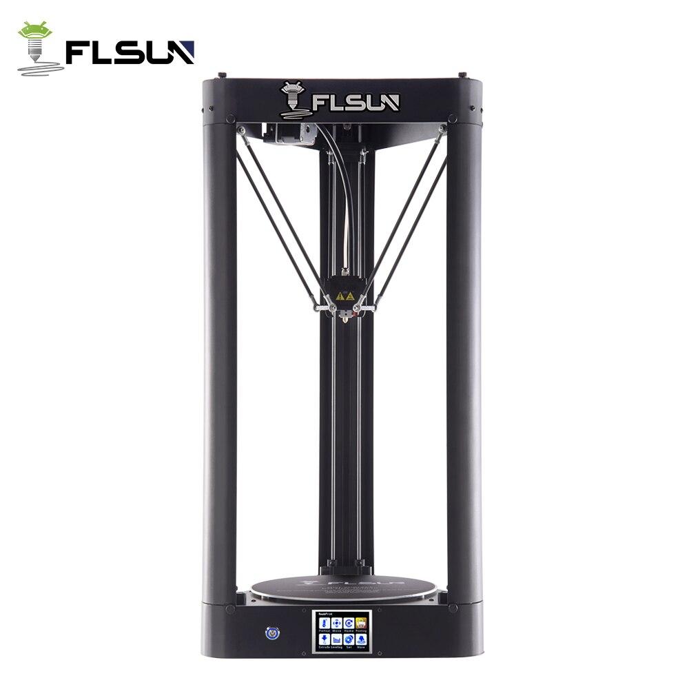 Flsun-QQ 3d Stampante Struttura In Metallo di Grandi Dimensioni Pre-assemblaggio a livello di Auto flsun 3d Letto Caldo Stampante touch Screen Wifi SD Card Filamento