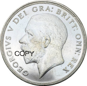 Großbritannien 1 Crown George V 1934 Kranz Crown Cupronickel Überzogene Silber Kopie Münzen