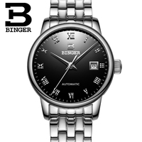 Switzerland Ladies Watch BINGER luxury brand Mechanical Wristwatches sapphire full stainless steel Women's watches B 5005L 3