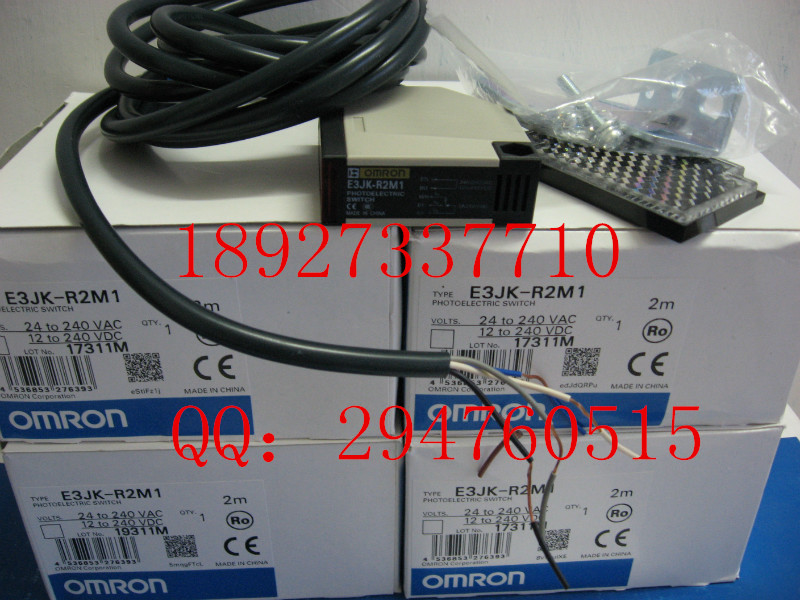 [ZOB] 100% new original OMRON Omron photoelectric switch E3JK-R2M1 2M / E3JK-RR11-C  --2PCS/LOT [zob] new original omron omron photoelectric switch e3s at11 2m e3r 5e4 2m