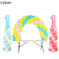 Cyuan 78Pcs Event Party Balloon Accessories Balloons Table Arch Stand and Column Stand Kit Wedding Birthday Baby Shower Supplies