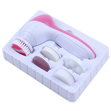 1Set 5 In 1 Electric Wash Face Machine Face Pore Cleaner Body Cleaning Massage Mini Skin Beauty Massager Brush