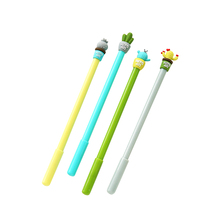 4 pcs Cute potting Cactus gel pen 0.5mm ballpoint Black color ink pens Stationery Office school supplies canetas escolar FB763