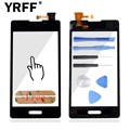 100% Тестирование + + + Для LG Optimus L5 2 II E450 E460 сенсорный Экран Планшета Передняя Стеклянная Панель Частей Логотип + Клей Бесплатный доставка