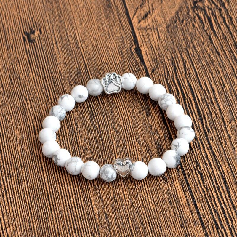 Jewelry & Access. ...  ... 32753727949 ... 3 ... QIHE JEWELRY Tiny Anitique Paw Charm Stone Bracelet Pet Memorial Cat Dog Lovers Jewelry For Men Women Uni ...
