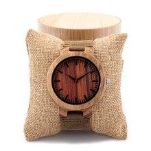 Бобо Птица C16P мужская Дизайн Бренда Роскошный Деревянный Бамбука Часы С настоящая Группа Кожи Зебры Дерева Кварцевые Часы Унисекс в Подарочной Коробке