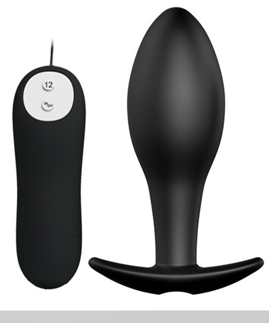 12 Speed Vibrating Silicone Anal Pleasure Bead Butt Plug Anus Stimulator In Adult Game,Erotic Sex Toys For Women And Men