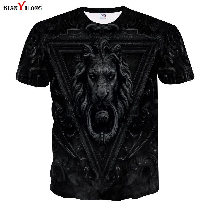 545afa40 US $8.0 42% OFF|Fashion Casual Fitness Men/Women T shirt 3d Lion Print  Designed Stylish Summer T shirt Brand Tops Tees Plus Size M 4XL-in T-Shirts  ...