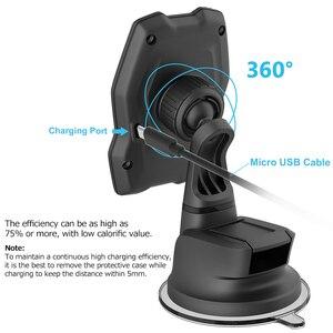 Image 3 - Yianerm magnetyczna bezprzewodowa ładowarka qi uchwyt samochodowy na telefon 10W szybkie bezprzewodowe ładowanie stojak na iphonea Xs Max 8 Plus Samsung Note 9