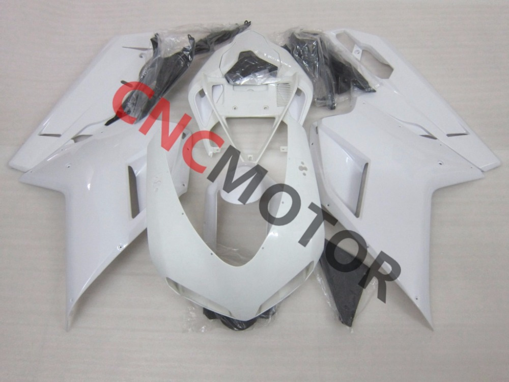 Unpainted ABS Injection Mold Fairing Kit Body Work For Ducati 848 1098 1198 2007-2011 07-08-09-10-11