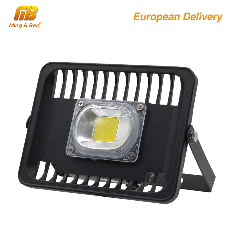 [MingBen] LED Flood Light 100W 50W 30W 230V IP65 Waterproof CE For Square Garden Garage Warm White Cold White Ship form ES RU CN охлаждение для компьютера cooltex 95x95x30mm 30w 100w 95x95x30 white