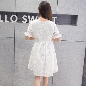 Image 5 - סיעוד שמלת נשים קצר שרוול הנקה קיץ שמלת עבור האכלת יולדות הריון בגדים בתוספת גודל סיעוד שמלה