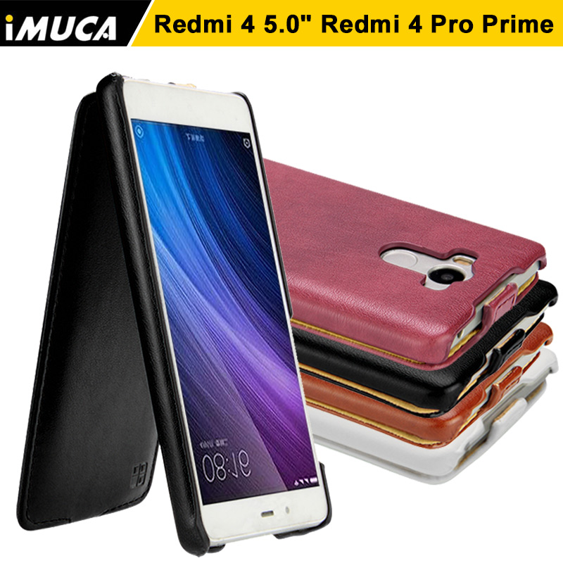 IMUCA For Xiaomi Redmi 4 Case PU Leather Flip Case Cover For Xiaomi Redmi 4 Pro