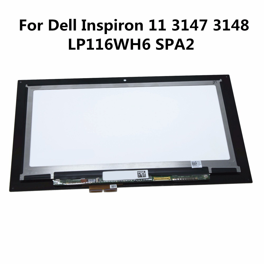 11.6'' Touch Digitizer LCD Screen Matrix Assembly For Dell Inspiron 11 3000 3157 3158 3152 3153 i3153 3147 3148 LP116WH6 SPA2 new 11 6 for sony vaio pro 11 touch screen digitizer assembly lcd vvx11f009g10g00 1920 1080