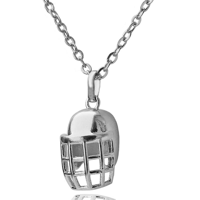 Rugby Helmet Pendant Choker Necklace for Women American Football Lovers Copper Made Collier Sports Jewelry Gift 10pcs Wholesale