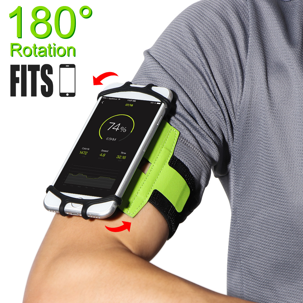 Armbands Armband Phone Holder 180 Degree Rotatable With Earbud Holder Sweatproof Arm Bag For Xiaomi Iphone 6 7 8 X 4 To 6 Inch Smartphone Cellphones & Telecommunications