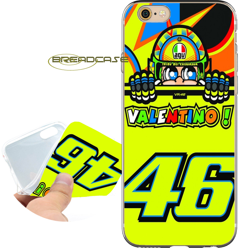 Coque Rossi vr46 MOTOGP Capa Soft Clear TPU Silicone Phone Cases for iPhone X 8 7 6S 6 Plus 5S SE 5 5C 4S 4 iPod Touch 6 5 Cover
