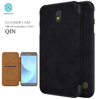 Flip Case For Samsung Galaxy J7 2017 J530 J530F Nillkin Qin Series Cover PU Leather Cover