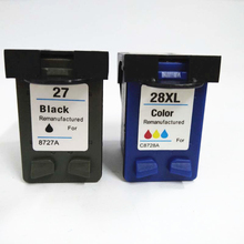 Vilaxh 2pcs 27 28xl compatible for hp 28 ink cartridge replace Deskjet 3320 3323 3325 3420 3535 355 01110 1210 printer