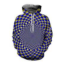 цена на 2019 3D Psychedelic Print Hoodie Sweatshirt Men Women Plus Size Hoodies Autumn Winter Hypnosis Hoody Tracksuit Pullover