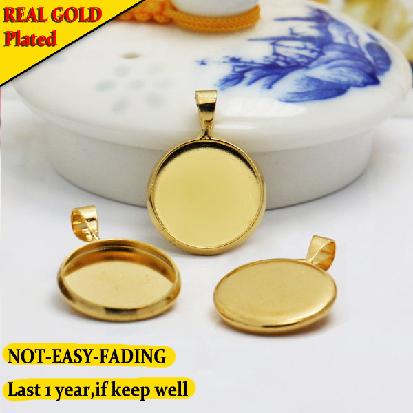 Real Gold Plated Not Easy Fading Ring Base With Inner 14mm