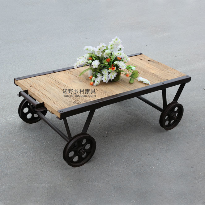 American Country Style Farmhouse Coffee Table Coffee Tea Table