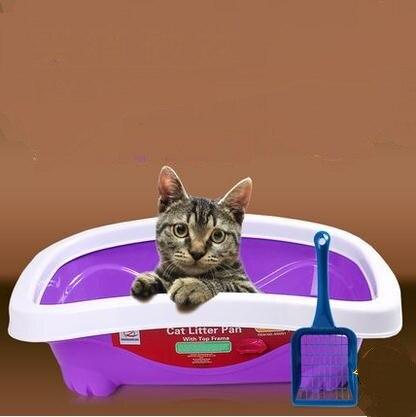 Роскошные кошка чаши полузакрытый бассейна кошачьих туалетов домашних животных кошачий Туалет Размеры: 42*33*13 см