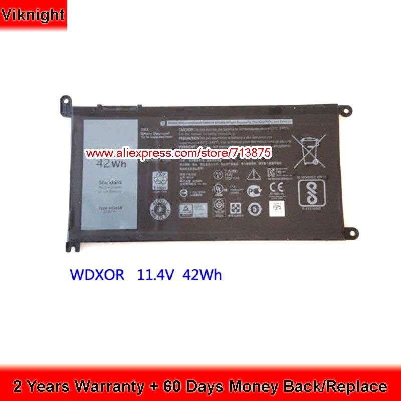 11.4 v 42Wh WDX0R WDXOR Batterie pour Dell Inspiron 13 5378 Ins14-7460-D1525G 15 7000