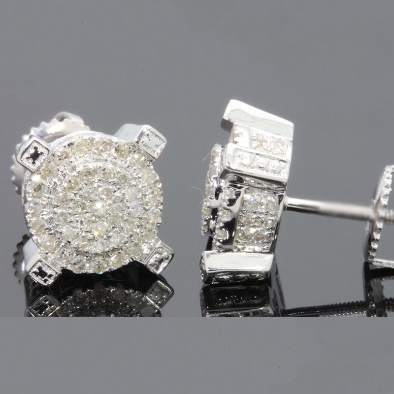 2019 New  Round Circle Stud Earring Gorgeous Paved AAA Austrian Cubic Zirconia Ear Studs Women Men Jewelry Z4M328