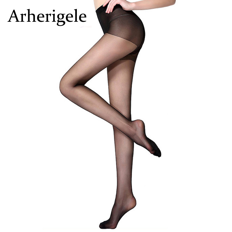 Arherigele Women's Tights Sexy Breathable 30D Nylon Pantyhose Ultra-thin Female High Elastic Transparent Stockings Pantyhose