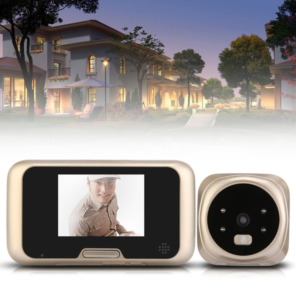 LESHP 3.0 inch TFT LCD Video Camera Peephole Wireless Zoom Camera Doorbell 160 Degrees Wide Viewer Night Vision Doorbell 7 inch video doorbell tft lcd hd screen wired video doorphone for villa one monitor with one metal outdoor unit night vision