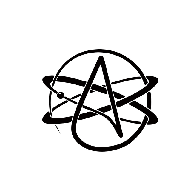 2017 Hot Sale Car Stying Cool Graphics Atheist Symbol Atheism Car