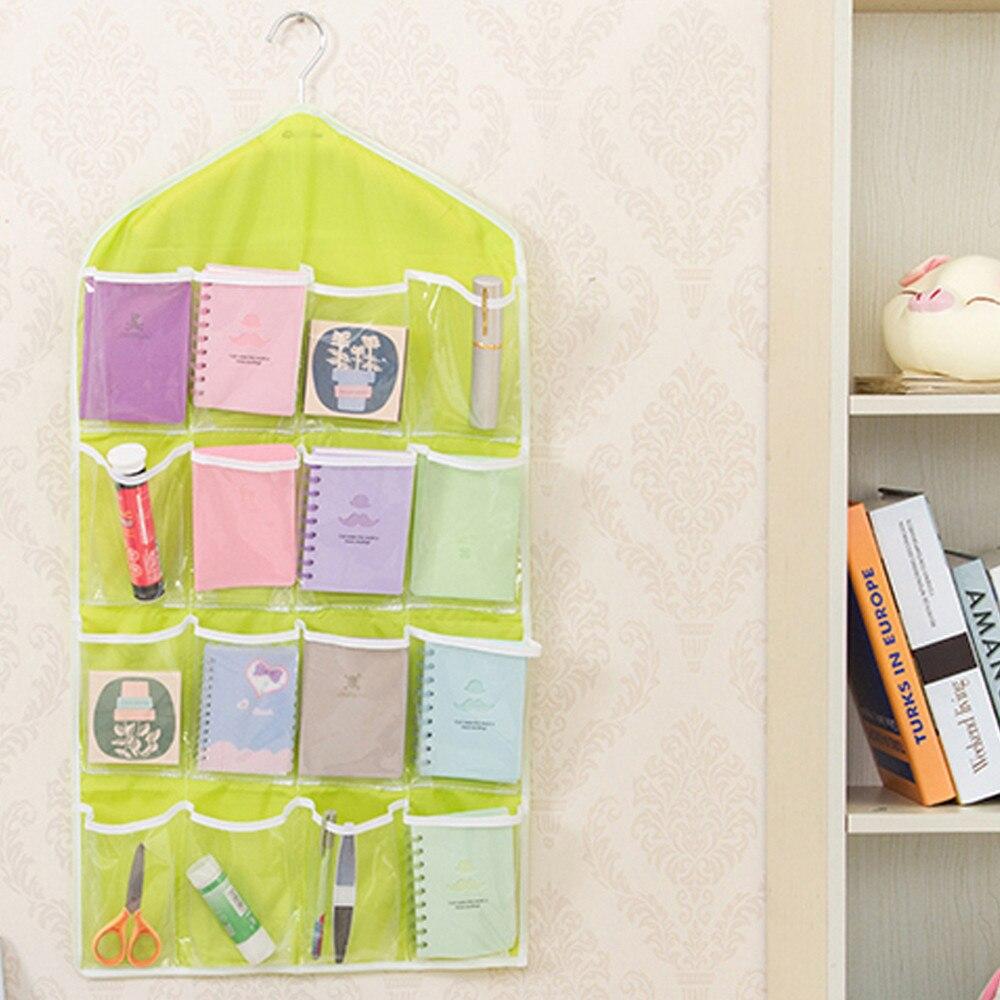 78x42cm 16 Pockets Clear Hanging Bag Socks Women Bra Underwear Hanging Rack Closet Organizer Rangement Hanger Storage Organizer Home & Garden Home Storage & Organization
