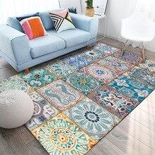 Retro fashion door mat splice applique carpet bedroom 1.5mx2m rug custom made velvet printing floor mat living room door mat