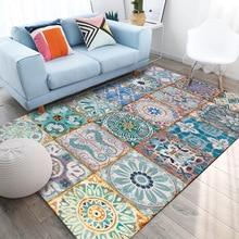 Retro mode deur mat splice applique tapijt slaapkamer 1.5 m x 2 m tapijt custom made fluwelen printing floor mat woonkamer deur mat