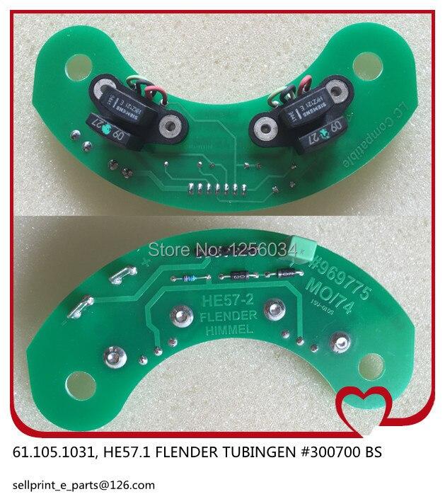 1 piece Heidelberg card HE57-2 61.105.1031 for MO and SM74 machine, FLENDER HIMMEL #969775