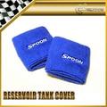 Car-styling 2pcs/pair For Honda Spoon Sports Reservoir Tank Cover blue Color UNIVERSAL JDM