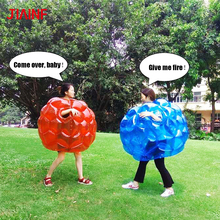 JIAINF 90*70cm Air Bumper Ball Inflatable Body Suit Eco-Friendly PVC Wearable Body Bubble Zorb Soccer Suit For Kids Knocker Ball inflatable bubbles soccer globe bumper footballs inflatable body bumper high bounce football customized color