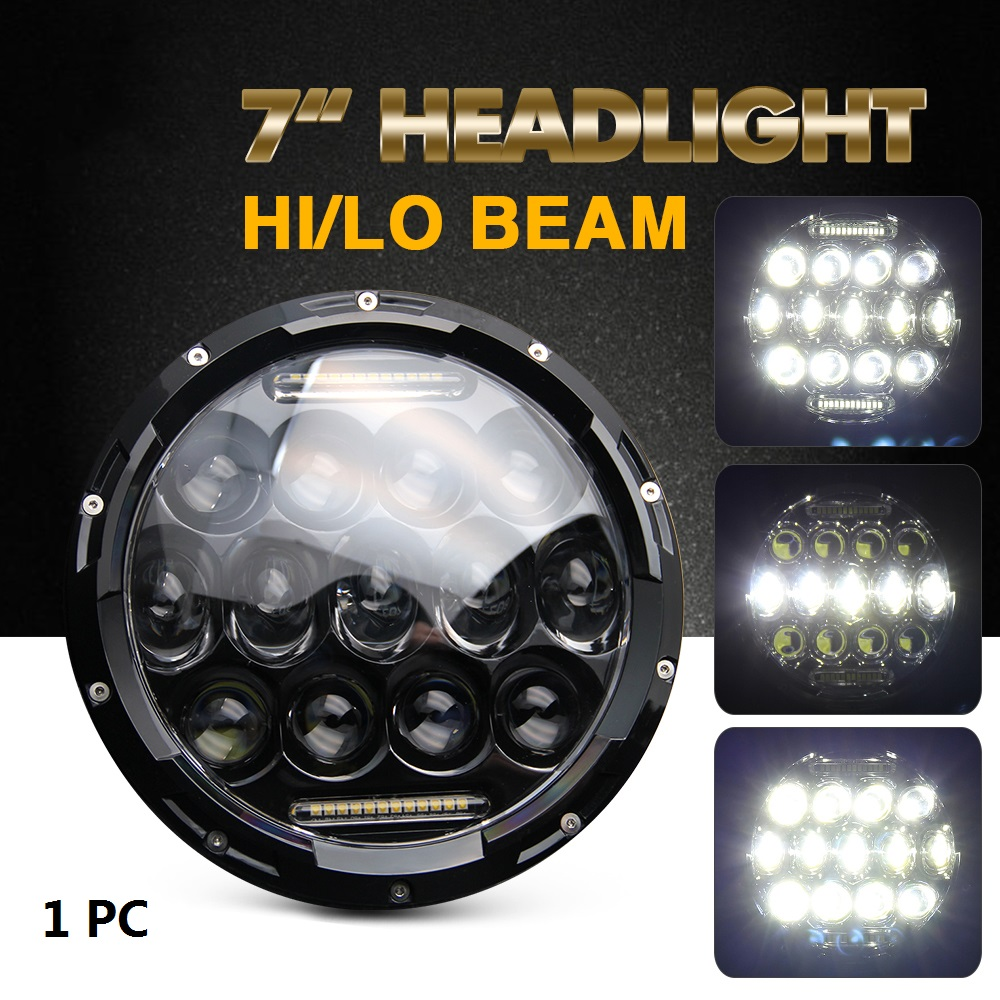 1X 7Inch 75W Led Headlight H4 H13 Drl High Low Beam 6000K Dc 12V 24V for Offroad 4X4 Auto Jeep Jk Wrangler Lada телескоп jj astro astroboy 50x600