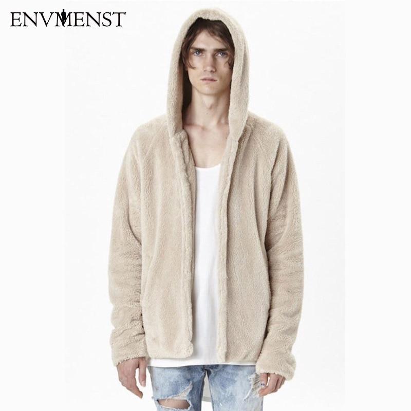 Envmenst Новинка 2017 Весна плюшевая куртка хлопок UNIX Fastion Мужчины куртка в стиле хип-хоп брендовая мужская одежда hign уличная куртка пальто мужски... ...